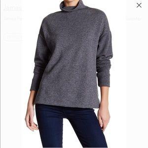 Standard James Perse Gray Wool Turtleneck Sweater